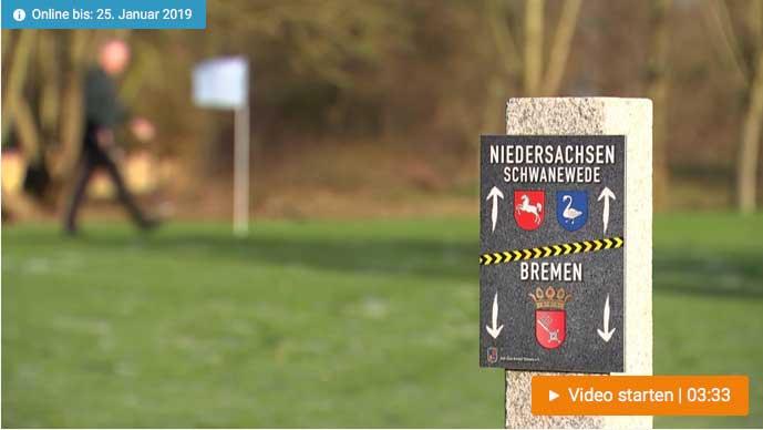 Landesgrenze trennt Golfplatz